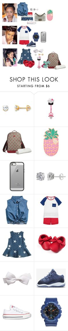 """""""4th of July with Family🇺🇸❤️💙✌🏾"""" by madisonw525 ❤ liked on Polyvore featuring Gucci, Lolli, Belkin, Carter's, Silver Treasures, Petit Bateau, Moschino, NIKE, Converse and Baby-G"""