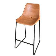 Industriële barkruk met rugleuning stoer te combineren met een robuuste bartafel. Voor in elk interieur style te combineren.