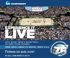The Missouri Valley Conference is hosting the 2013 Men's Basketball Championship in Kansas City, Missouri. Don't miss your chance to experience March Madness Live. Visit http://ncaa.com/mbbtickets to purchase your tickets today.