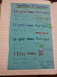 Math = Love: Combinations and Compositions of Functions