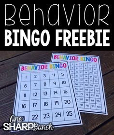 "One of our favorite whole group classroom management games is ""Behavior Bingo.""  I attach the bingo card on my whiteboard.  In the beginning of the year, I like to use the board with only 25 numbers.  As the year progresses, I print the ""Behavior Bingo"" hundreds board poster size.  Then, I watch for good choices!"