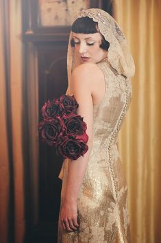 An Eco-Friendly, 1920s Vintage Fashion Inspired Bridal Photoshoot