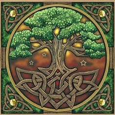 Stunning Tree of Life blank card with Celtic knot border Pagan Wiccan Freepost | eBay