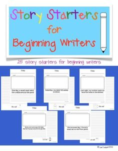 This file contains 25 simple story starters for beginning writers. $