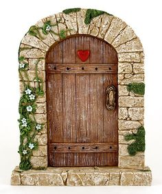 Top Collection Large Charming Cobblestone Fairy Door Décor | zulily