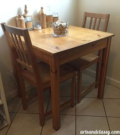 30 yard sale table get s a makeover french country, chalk paint, chalkboard paint, painted furniture