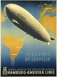 To Europe by Zeppelin (The Graf Zeppelin, sister...