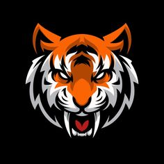 Tiger Head Logo Gaming Mascot Sport Template