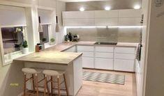 U Shaped Kitchen Remodel . U Shaped Kitchen Remodel . U Shaped Kitchen Ideas – Designs to Suit Your Space Ikea Small Kitchen, Ikea Kitchen Storage, Ikea Kitchen Design, Blue Kitchen Decor, Voxtorp Ikea, Gallery Kitchen Remodel, Kitchen Gallery, Cuisines Design, Küchen Design