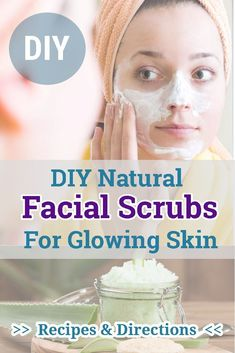 You need the best recipes and instructions to make your own natural facial scrubs. Please click the link to check. Face Scrub Homemade, Homemade Facials, Homemade Skin Care, Diy Skin Care, Skin Care Tips, Skin Tips, Homemade Beauty, Natural Facial, Natural Skin Care