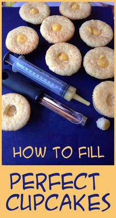 Easy way to fill cupcakes perfectly.
