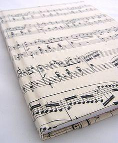 Vintage musical note notebook