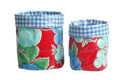 'Nesting Pots - Red Poppy' Set of 2, Medium and Large