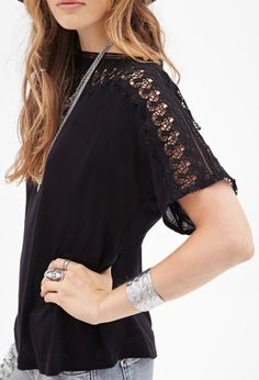 Slub Knit Crochet Top, How would you style this? http://keep.com/slub-knit-crochet-top-by-ixchel_mayorga/k/2ex4negBCF/