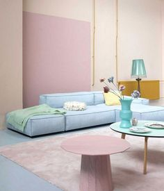 Home Design and Interior Design Gallery of Beautiful House Pastel Colors Living Room Soft Blue Sofa