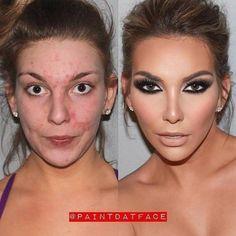 25 Dazzling Photos That Show the True Power of Makeup Contour Makeup, Makeup Geek, Makeup Tips, Beauty Makeup, Hair Makeup, Hair Beauty, Beauty Makeover, Makeup Makeover, Makeup Before And After