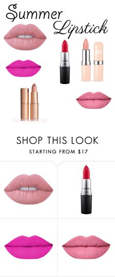 """Untitled #164"" by rebecca-chatteris ❤ liked on Polyvore featuring beauty, Lime Crime, MAC Cosmetics and summerlipstick"