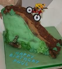 Downhill MTB Birthday Cake Bicycle Kids Bike Canapes Activities For