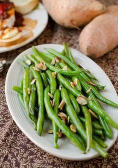 Classic Green Bean Almandine!
