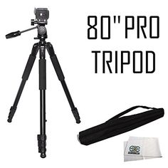 Introducing Professional 80Inch Built in Bubble Leveling 3way Panhead with Tilt Motion Angled Legs Heavy Duty Tripod Extend to 80 with Center Column  Microfiber Cleaning Cloth for Nikon D3000 D3100 D3200 D3300 D3400 D5000 D5100 D5200 D5300 D5500 D7000 D7100 D7200 D40 D50 D60 D70 D80 D90 D600 D610 D800 D800E D810 D810A D4 D4s DF P900. Great Product and follow us to get more updates!