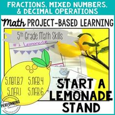 Project-based learning (PBL), help your students practice decimals (money skills) and fractions with this quality project-based learning for grades 4, 5, and 6. It includes a teacher guide walking you through each step.