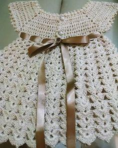Crochet Pattern Name: Baby/Toddler Dress - Diy Crafts - Marecipe Crochet Dress Girl, Crochet Baby Dress Pattern, Crochet Fabric, Baby Girl Crochet, Crochet Baby Clothes, Newborn Crochet, Baby Knitting Patterns, Crochet For Kids, Crochet Stitches