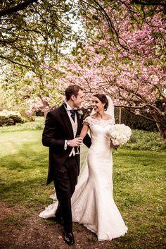Charlotte & George. Wedding dress by Augusta Jones