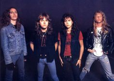 Cliff Burton, Lars Ulrich, Kirk Hammett & James Hetfield