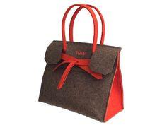 ArtAK KUNST Travel Bag. Designer Wool felt bag. Made to measure. Monogram Personalized. Design your bag colors