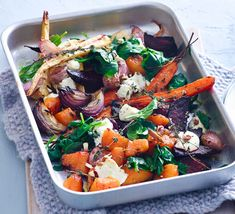 This easy, one-tray vegetarian lunch is packed with naturally sweet vegetables to help keep sugar-cravings at bay