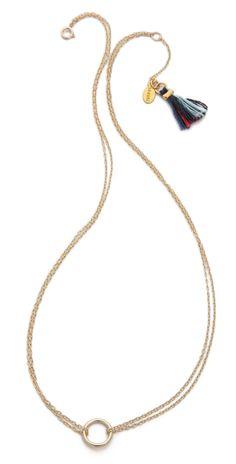 Inspiration: Shashi Circle Necklace | SHOPBOP