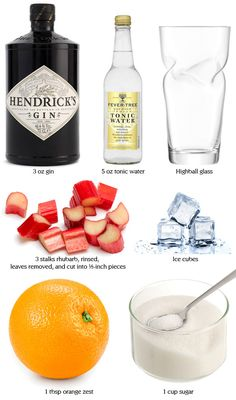 Rhubarb Gin and Tonic recipe | canada.com; This would be awesome, it reminds me of walking home from the swimming pool in the summer and steal everyone's Rhubarbs!