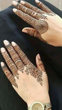 Finger Henna Designs, Henna Tattoo Designs Simple, Back Hand Mehndi Designs, Latest Bridal Mehndi Designs, Full Hand Mehndi Designs, Mehndi Designs For Beginners, Mehndi Designs For Fingers, Latest Mehndi Designs, Mehndi Designs For Hands