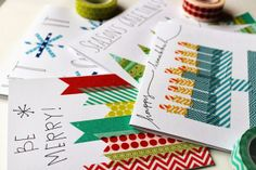 easy washi tape holiday cards!