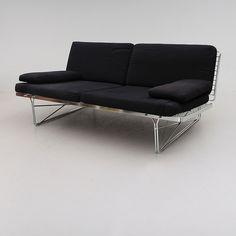 Niels Gammelgaard; Chromed Metal 'Moment' Sofa for Ikea, 1985.