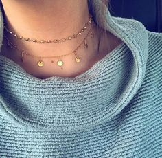 "Gold plated Dangle Choker12"" with 2"" extender chain ALV Jewels best seller"