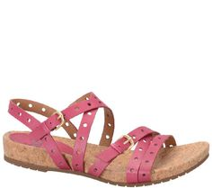 Sofft Perforated Leather Sandals - Malana