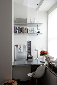 modern home office by SchappacherWhite Architecture D.P.C. // smart shelving