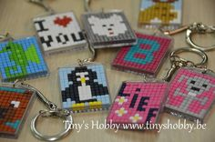 Pixelhobby sleutelhangers Tiny's Hobby