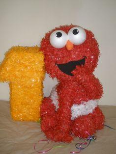 1st birthday Elmo Piñata.