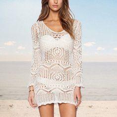 707c245937da5 Estate Vestito Mini Copricostume Tinta Unita Donna Woman Mini Cover up  Dress Beach Dresses