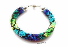 Discount Sale   Bead Crochet Bracelet  Beaded by SERMINCEJEWELRY