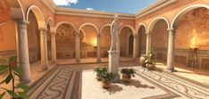 Elevate your workflow with the Roman Patio asset from Everything. Find this & other Historic options on the Unity Asset Store. House Front Design, House Exterior, Mediterranean Homes, Mexico House, Mediterranean Architecture, Mediterranean Mansion, Roman House, Ranch Style Homes