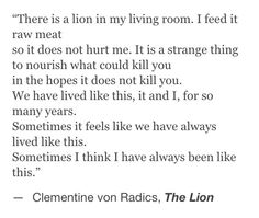 The Lion -Clemintine von Radics