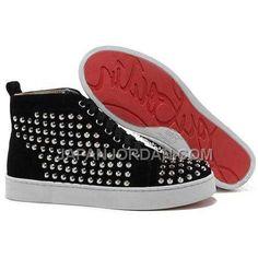 http://www.japanjordan.com/christian-louboutin-louis-silver-spikes-high-top-sneakers-black.html 割引販売 CHRISTIAN LOUBOUTIN LOUIS 銀 SPIKES HIGH TOP SNEAKERS 黑 Only ¥17,146 , Free Shipping!