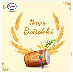 Ayur Herbals wishes you all a Happy Baisakhi. May this bring prosperity, abundance, and success. Baisakhi Festival, Happy Baisakhi, Closer To Nature, Important Dates, Abundance, Festivals, Herbalism, Instruments, Bring It On