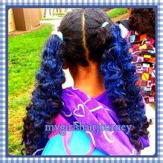 2 blue Ponytails ♥