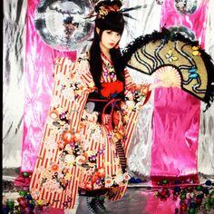 Kyary Pamyu Pamyu, Japan, Japanese, harajuku, fan, disco, kimono, hair, fashion