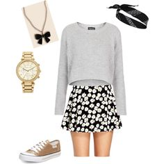 Fun glittery golden casual outfit - Teen/Tween Fashion