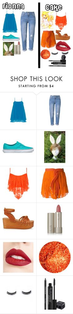 """""""Fionna and Cake"""" by emberjoy-922 on Polyvore featuring Manon Baptiste, WithChic, Vans, WearAll, Jay Ahr, Isabel Marant, Ilia, Jouer and Rodial"""